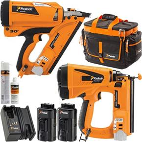Paslode KIT DEAL: IM350 Plus Nailer, IM65 Nailer, 2x 2.1Ah, Kit Bag