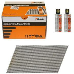 Paslode 63mm Stainless Steel Angled Brad Nails for IM65A (2000pk)