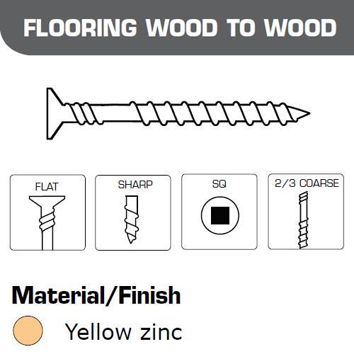 Senco Collated Screws Flooring Wood-Wood 4.2x75mm