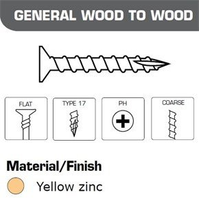 Senco Collated Screws General Wood-Wood 4.2x25mm