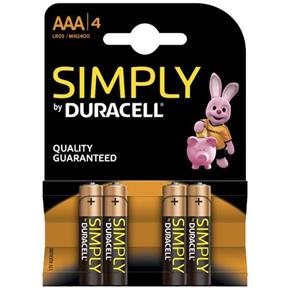 Simply Duracell AAA Batteries (4pk)