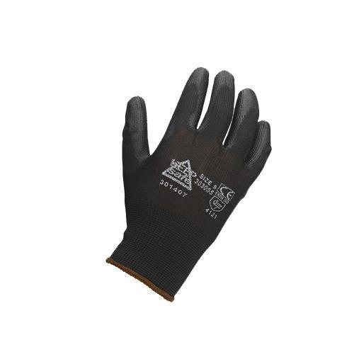 Black PU Coated Gloves (12pk)