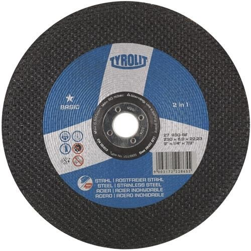 Tyrolit 222854 Metal Grinding Disc (125x6x22.23)