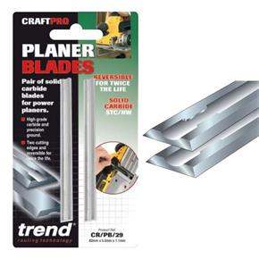 Trend Craft Pro Carbide Planer Blades 80.5mm x 5.9mm x 1.2mm (2pk)