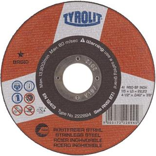 Tyrolit 222893 Flat Metal Cutting Disc 100mm