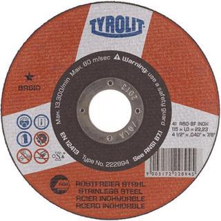 Tyrolit 222894 Flat Metal Cutting Disc 115mm