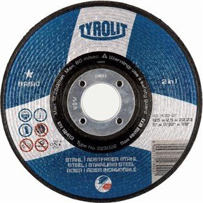 Tyrolit 223021 Metal Cutting Disc DPC (125x2.5x22.23)