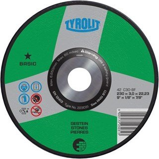 Tyrolit 223031 DPC Stone Cutting Disc 230x3x22.23mm