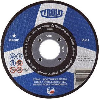 Tyrolit 291949 Flat Metal Cutting Disc 230mm