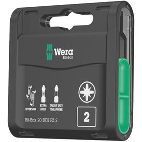 Wera Extra-Hard BiTorsion PZ2 Bit-Box (20pcs)